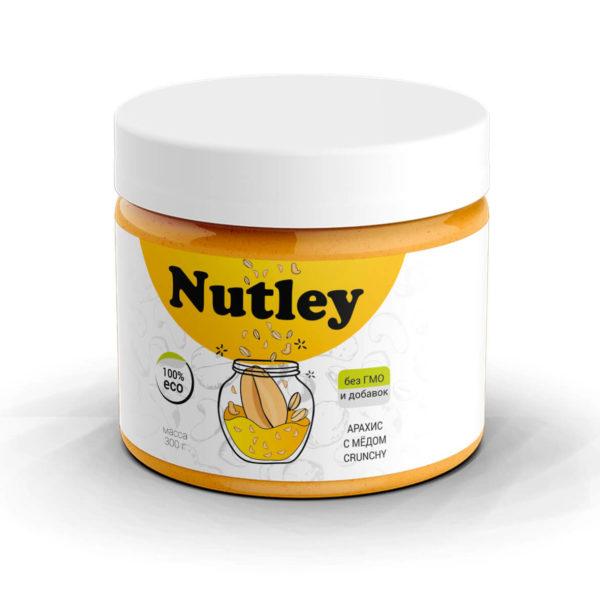 Арахисовая паста с медом (Crunchy) Nutley