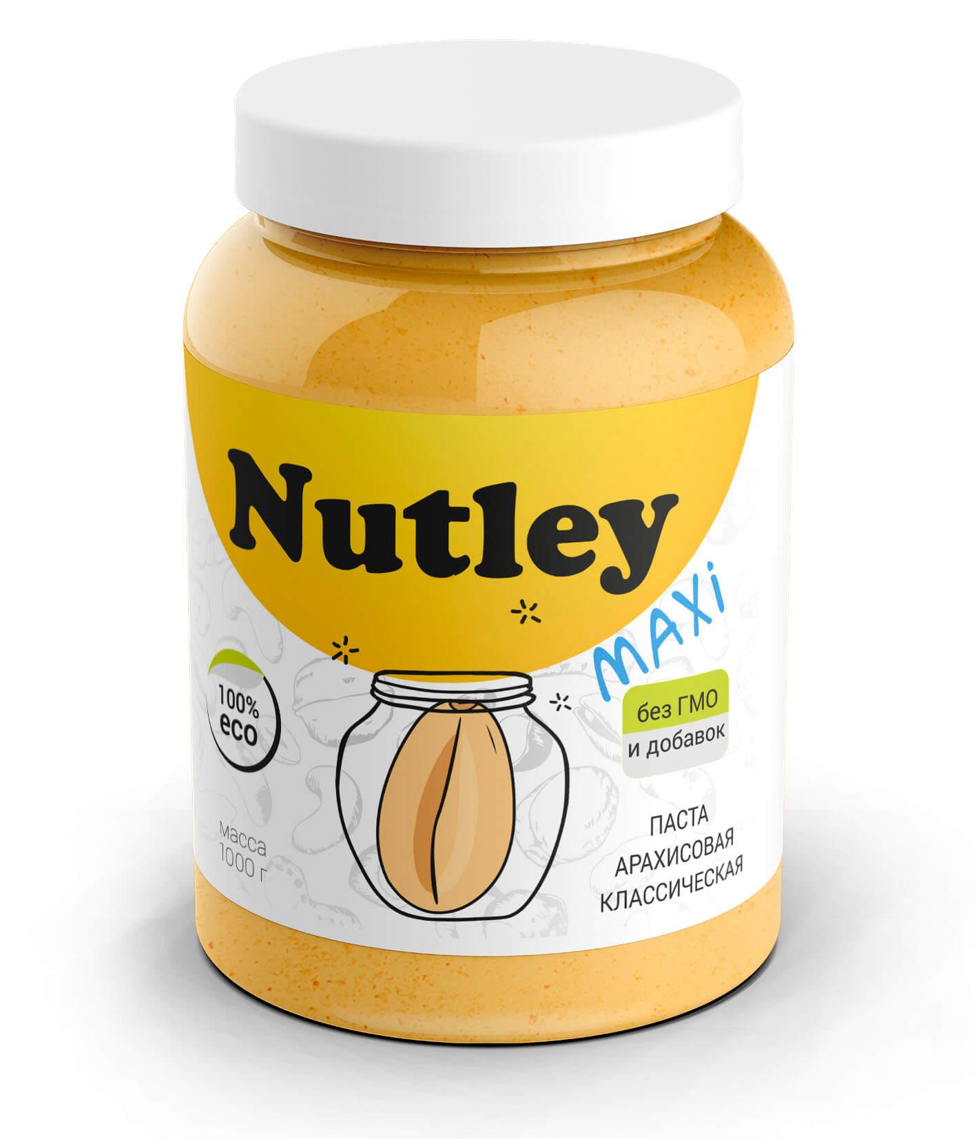 Арахисовая паста Nutley Classic (классическая)